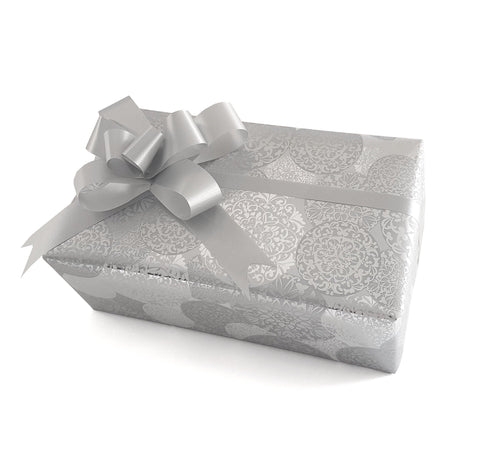 Silver Xmas Gift Wrap-Trade Roll Christmas Wrapping Paper