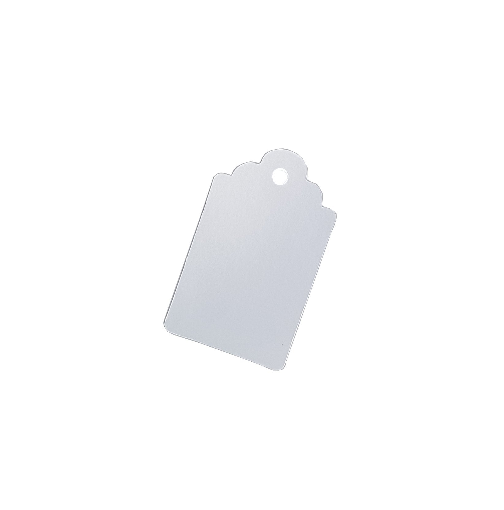 Matte Metallic Silver Single-sided Gift Tags