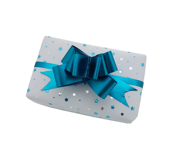 White and Aqua Xmas Gift Wrap-Strong White Christmas Paper