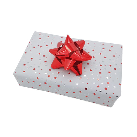 White and Red Small Design Christmas Wrapping Paper Counter Roll