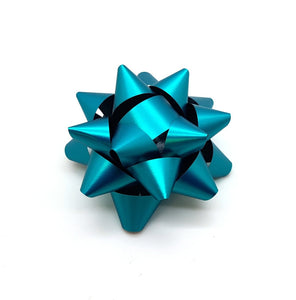 Turquoise Star Bows-Teal Gift Bows-Teal Xmas Bows