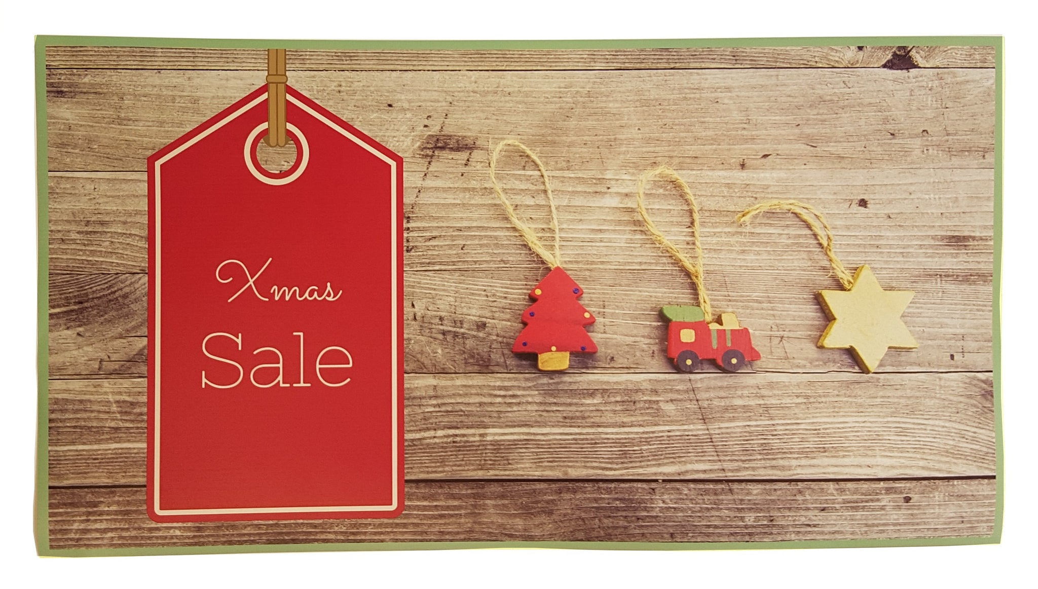 Xmas Sale Poster-Vintage Style Xmas Sale Poster