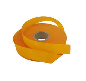 Bright Yellow Satin Ribbon-Single Faced Yellow-Gold Ribbon