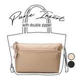 Purse Insert With Double Zipper