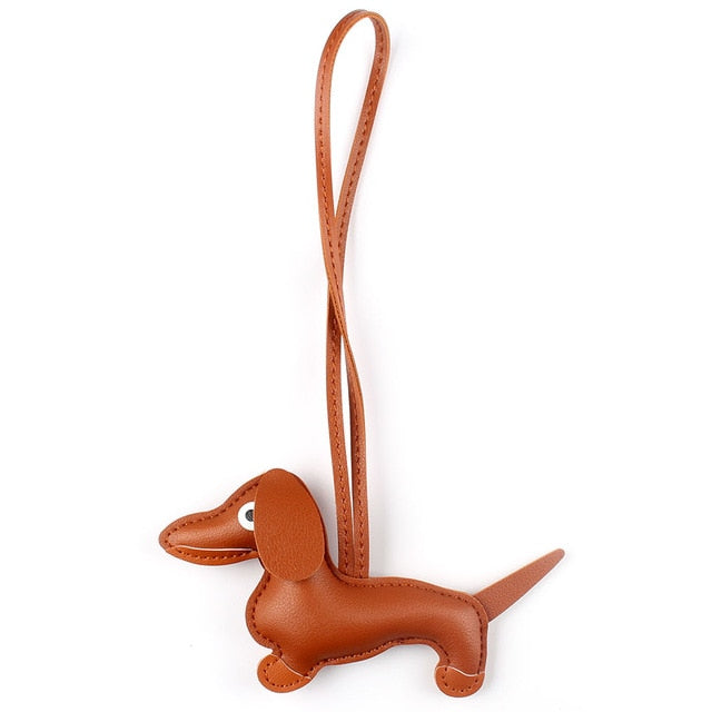 Puppy Dog PU Leather Keychain