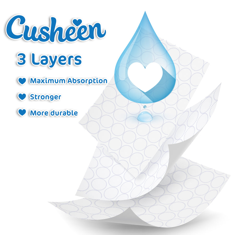 Cusheen Luxury 3 Ply Pure White Toilet Tissue Paper - 60 Rolls PLUS Cusheen Lavender Toilet Spray 500ml