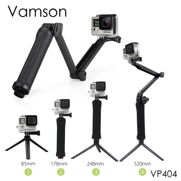 Vamson for Gopro Accessories Tripod 3 Way Monopod Mount Extension Arm