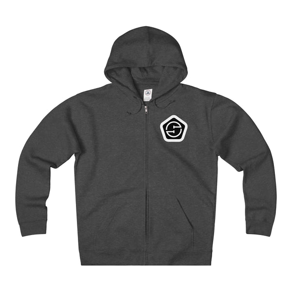 Unisex Heavyweight Fleece Full-Zip Hoodie (front & back)