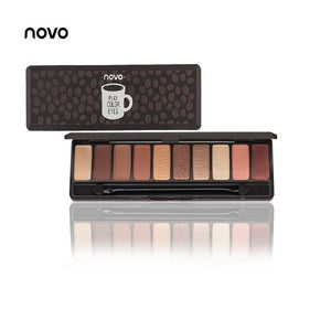 NOVO Fashion eyeshadow palette 10Colors Matte EyeShadow naked palette Glitter eye shadow MakeUp Nude MakeUp set