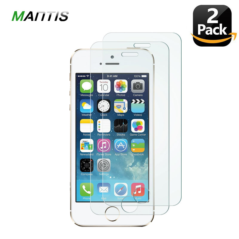 MANTIS 2.5D 0.26MM[2 Pack] Protective Glass On For IPhone 5s 4 Screen Protector For IPhone 5 SE 6 6S 7 8 Plus X XS Max XR Film