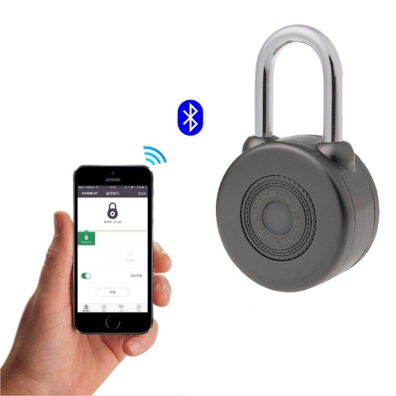 Electronic Wireless Lock Keyless Smart Bluetooth Padlock Master Keys Types Lock with APP Control for Bike Motorycle Home Door
