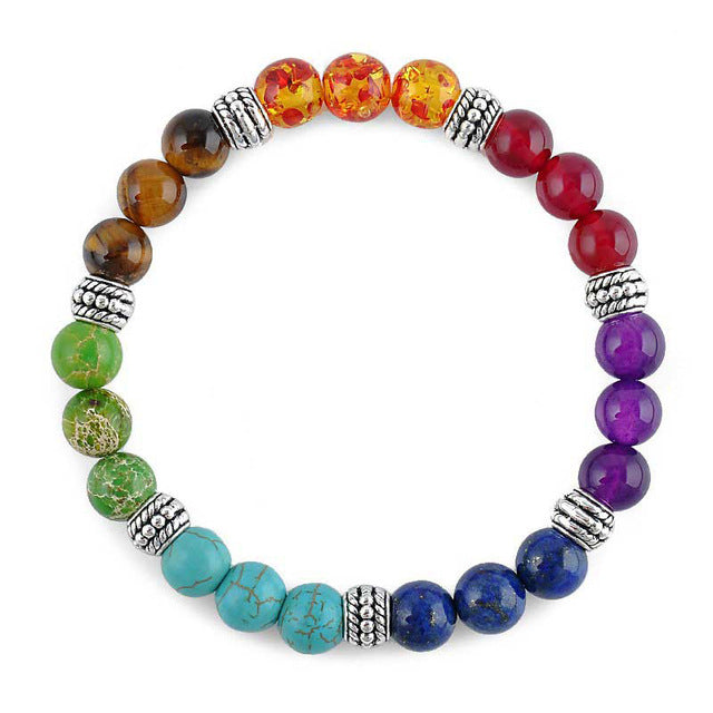 Natural Crystals Multicolor Chakra Bracelet