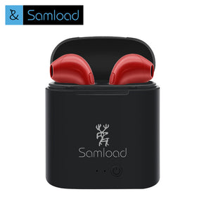 Samload i7s Bluetooth Wireless Headset sport Earphones Stereo Air Music Pods Ear buds For Apple Headphone iPhone SE 6 7 8 Xiaomi
