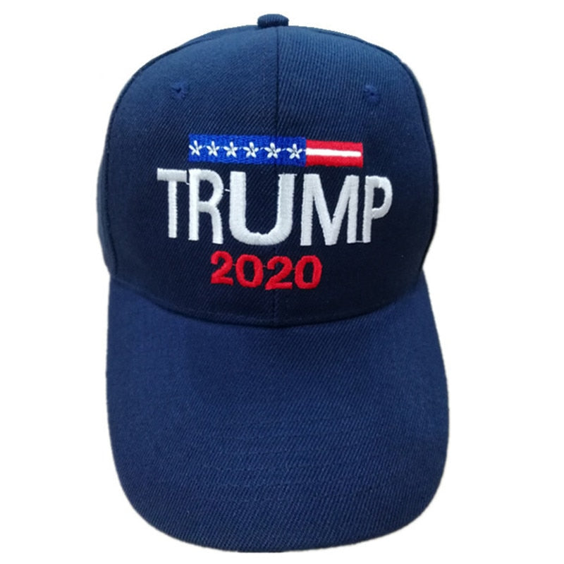 2020 Donald Trump Hat Re-Election Keep America Great Embroidery USA Flag MAGA Cap Cotton Baseball Hat