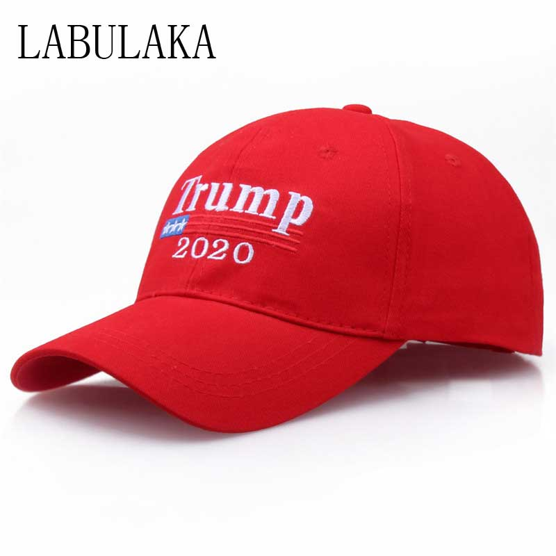 2020 Donald Trump President Cap Adjustable Summer Make America Great Again Trump Baseball Cap Embroidery USA Flag MAGA Hat Cap