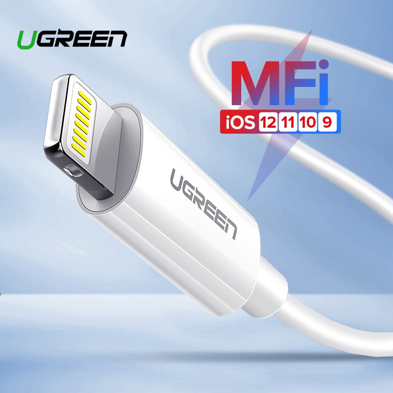 Ugreen USB Cable for iPhone X Xs Max XR 2.4A Fast Charging USB Charger Data Cable for iPhone Cable 8 7 6 6SPlus USB Charger Cord