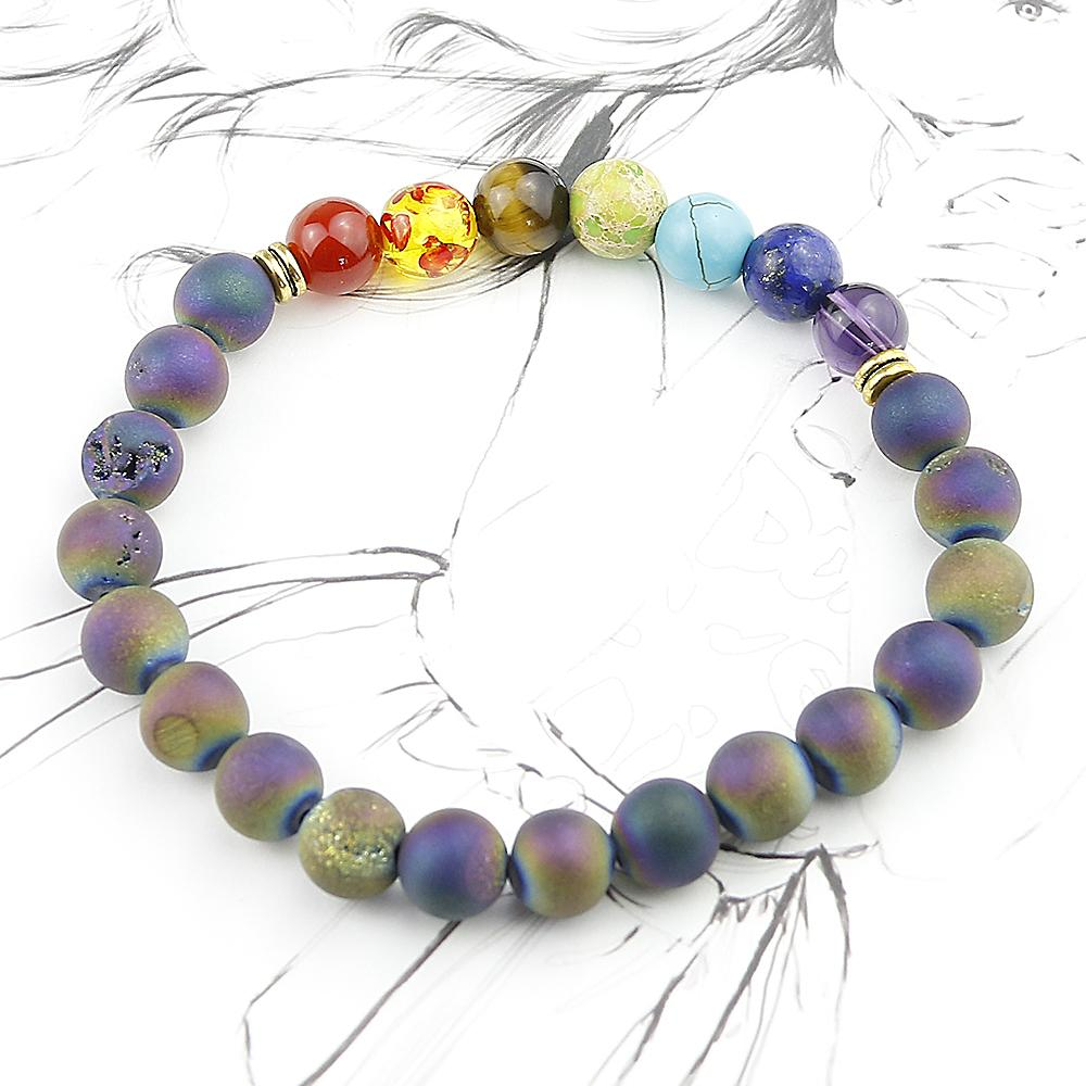 Rainbow Healing Chakra Bracelet-Zen Magic