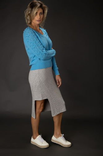 Merino Wool Popcorn Sweater