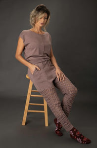 Cozy Merino Wool Open Stitch Pant