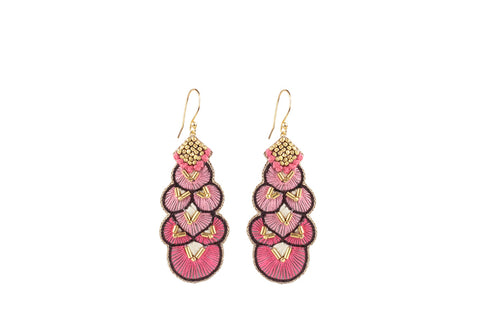 Alis coral earrings