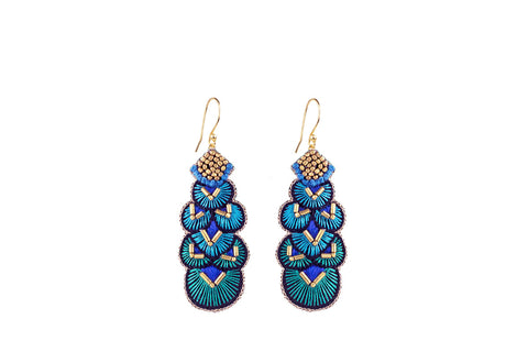 Alis blue-gold earrings