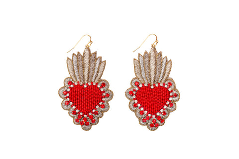 May earrings-red stones
