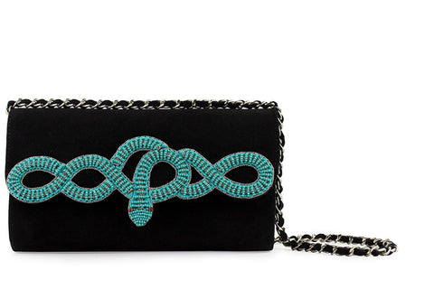 Sam turquoise-black bag