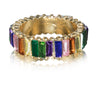 THIN RAINBOW ETERNITY BAGUETTE BAND