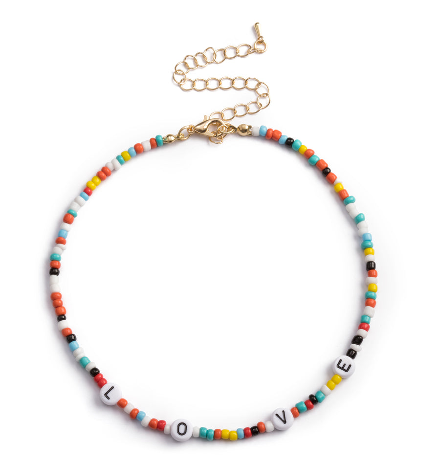 BEADED LOVE CHOKER