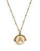 GOLD PLATED MONOGRAM DIAMANTE NECKLACE