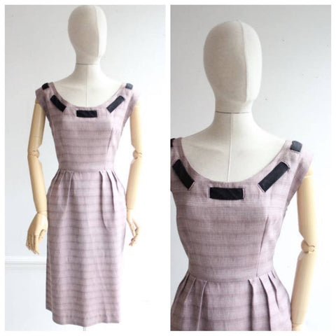 Vintage 1950's Wiggle Dress original 1950's revival  Mountbatten Pink Wiggle Dress casual fifties 50's original goodwood revival midcentury