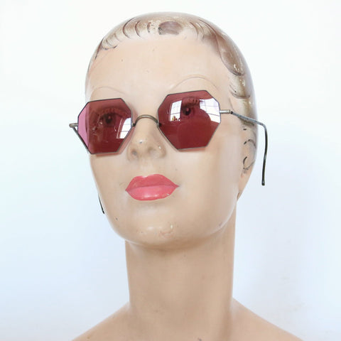 Vintage 1930's sunglasses vintage 1930's octogonal sunglasses 1930's tinter sunglasses octagon art deco sunglasses 30s american glasses