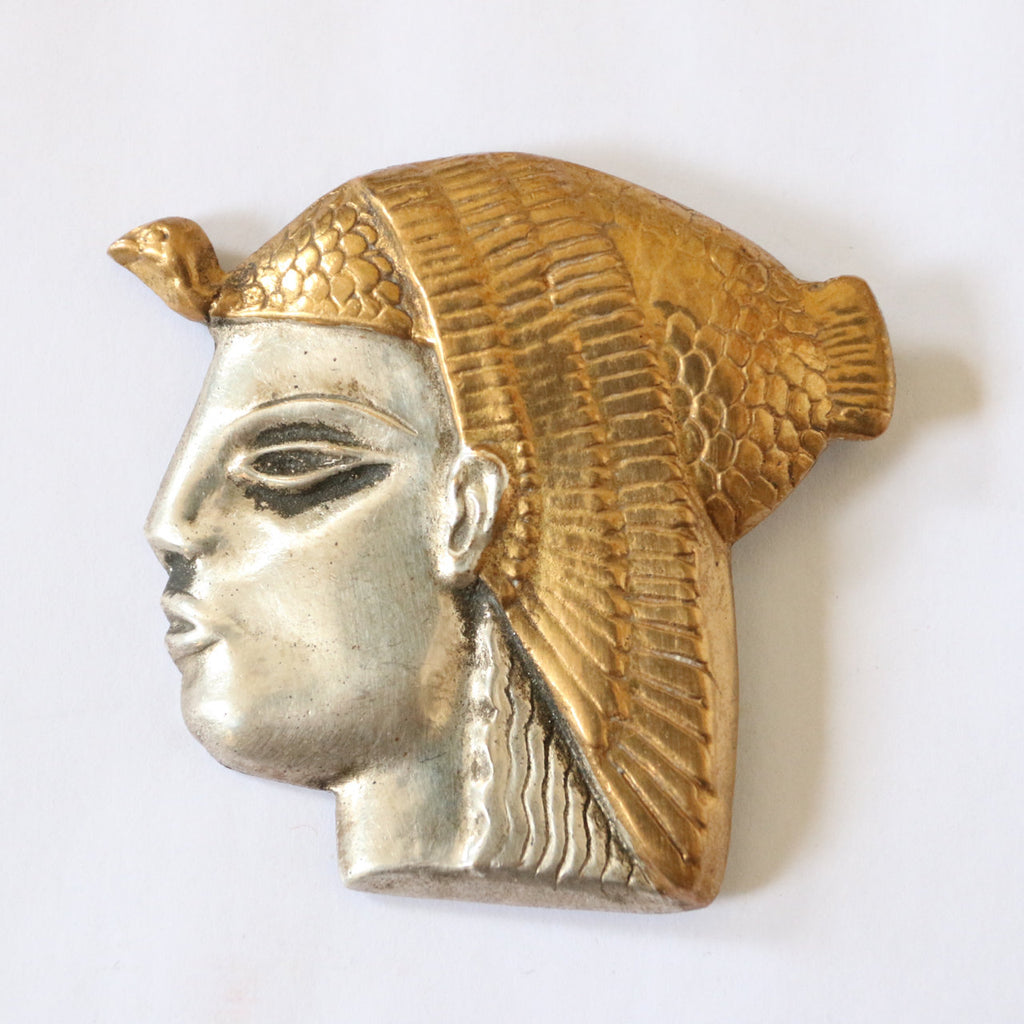 Vintage 1950's brooch vintage 1950's Egyptian brooch Egyptian revival brooch Egyptian god brooch vintage midcentury brooch 1950s jewellery