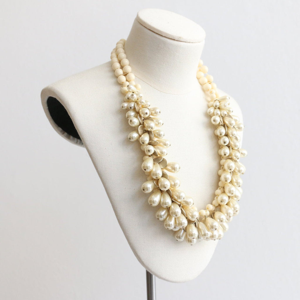Vintage 1950's beaded necklace vintage 1950's pearl necklace 1950's multi strand beaded necklace original fifties necklace 1950's pearls