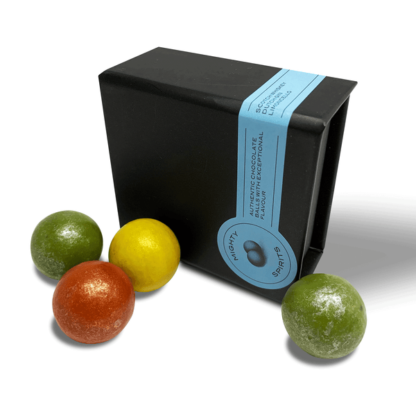 Chocolade Truffles in 3 unique flavours: Scotch Whiskey, Dutch Gin, Limoncello