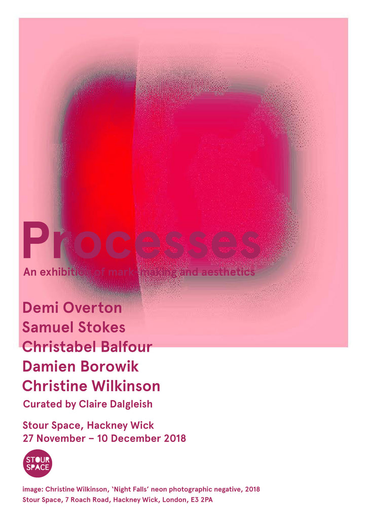 "Partner Artist Christine Wilkinson exhibiting at Stour Space show ""Processes"""