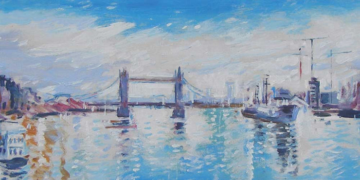 London cityscape artwork for offices to rent