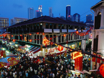 Big City, Bright Lights - Chinatown District at Dusk, Singapore (#BCBL_01)