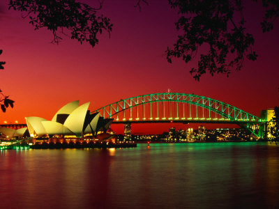 Big City, Bright Lights - Opera House and Harbour Bridge at Sunset, from Macquaries Point, Sydney, Australia (#BCBL_02)