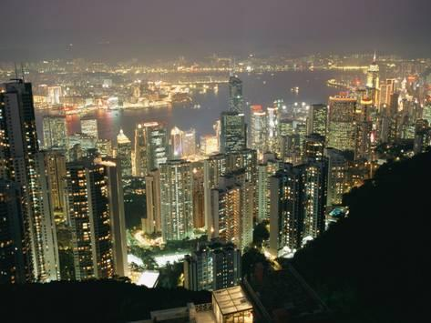 Big City, Bright Lights - The Hong Kong Skyline is Lit up at Night with Thousands of Lights (#BCBL_07)