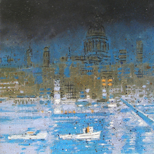 Urban Reflections - Boats on the Thames (#ELWELL_B_2002)