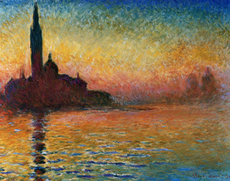Impressionism Movement - Sunset In Venice (#IMPRESS_01)