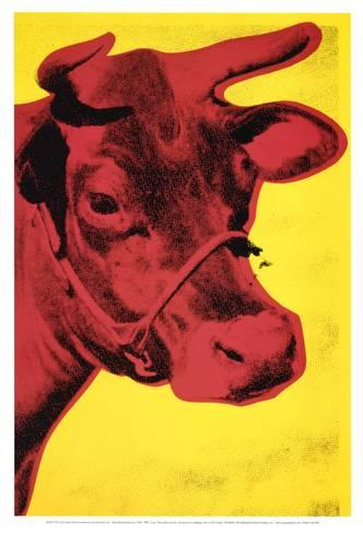 Pop Art Movement - Cow, c.1966 (Yellow and Pink) (PAM_02)