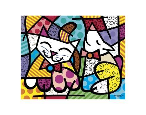 Pop Art Movement - Happy Cat and Snob Dog (#PAM_07)