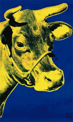 Pop Art - Cow c.1971 Blue & Yellow, (#POP_ART_06)