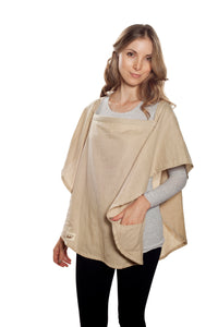 Classic Nursing Cover Beige Oval