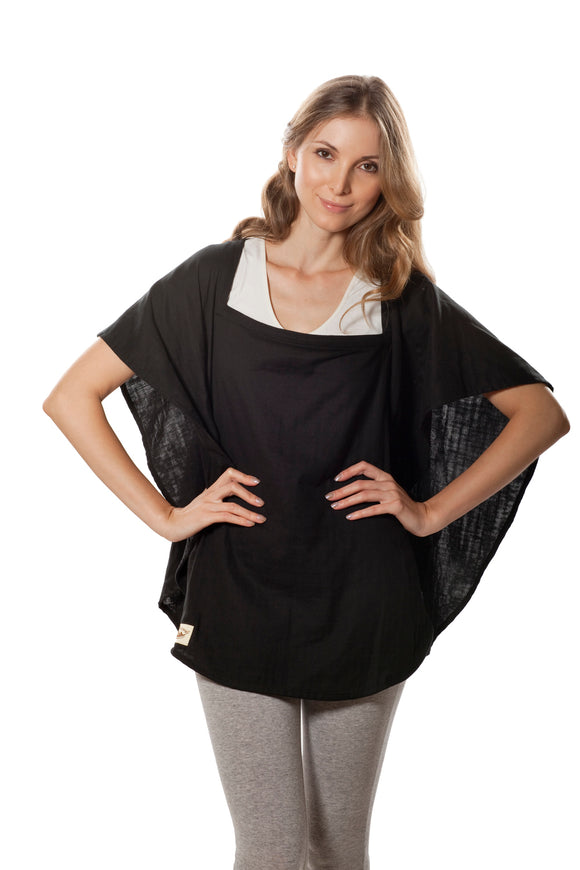 Classic Nursing Cover  Black Oval