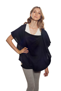 Classic Nursing Cover Navy Oval