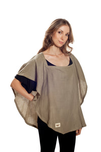 Classic Nursing Cover Olive Oval