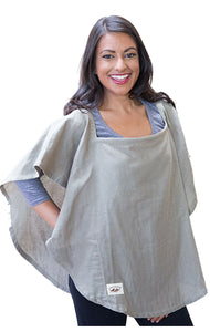 Organic Nursing Cover Olive Oval